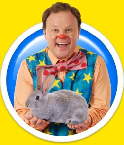 I finally saw Something Special this weekend and was introduced to the wonderful Mr Tumble. [Image from here].