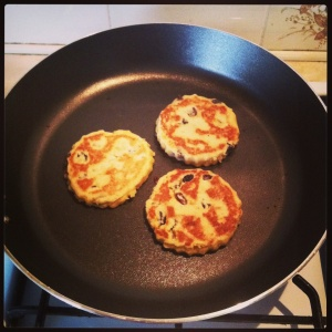Cooking the Welsh cakes